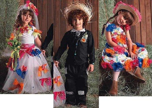 Roupas de festa junina para crianças