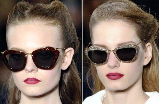 Alerta de tendência acessórios  óculos Miu Miu – outono inverno 2011 ... 5b655b1753
