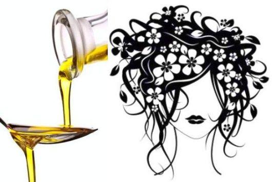 Hidratação com azeite para cabelos secos