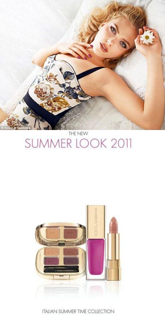 Campanha de Maquiagem D&G com Scarlett Johansson