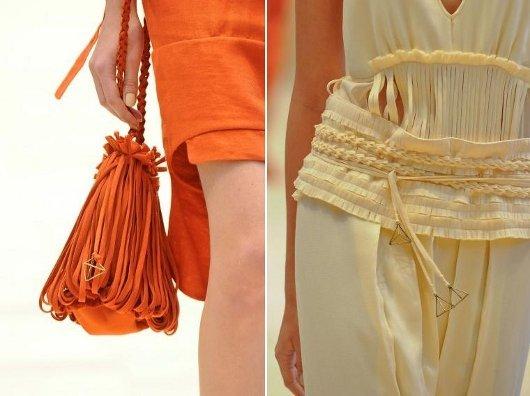 Moda primavera verão 2011-2012: trançados e franjas