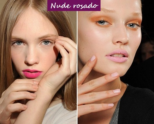 Moda unhas: tendências para o outono inverno 2012 - nude rosado