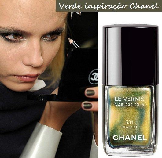 Moda unhas: tendências para o outono inverno 2012 - Verde Chanel 531