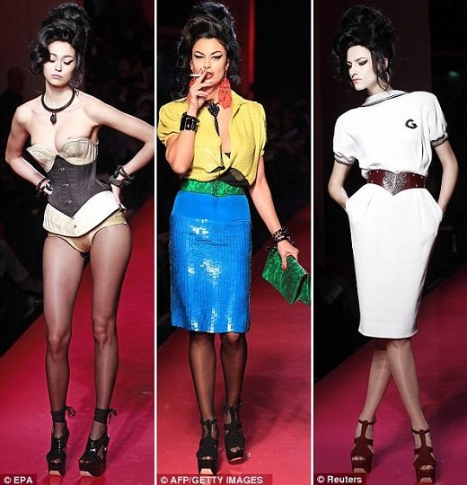 Amy Winehouse em Jean-Paul Gaultier