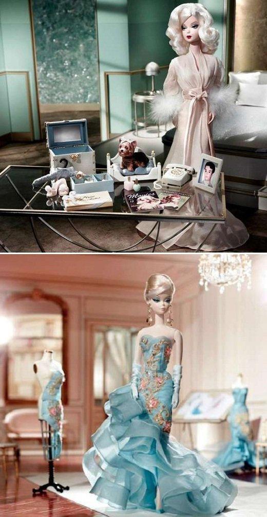 Barbie com inspiração nas oficinas de moda