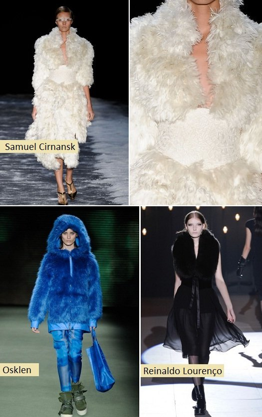 Moda outono inverno 2012: textura felpuda
