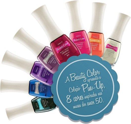 Esmaltes 2012: Coleção Pin up da Beauty Color