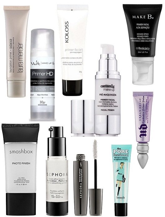 Maquiagem: vários primers