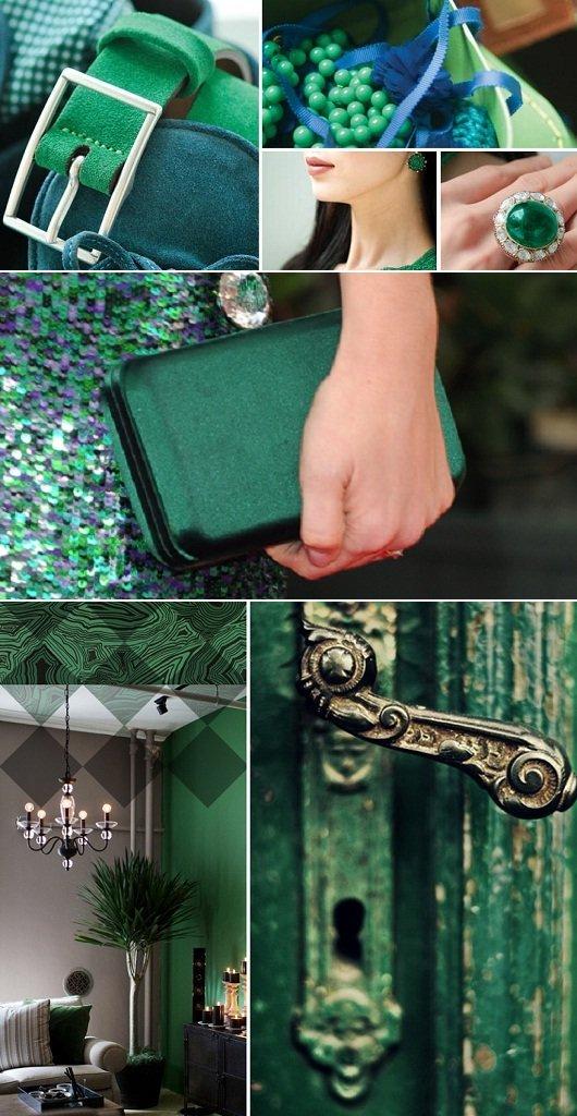 Cor da moda de 2013 - verde esmeralda