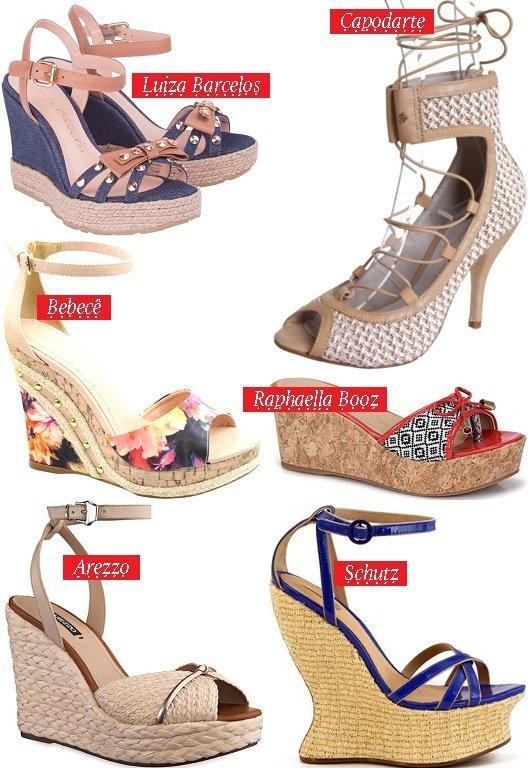 Sapatos 2014 - juta, cortiça, ráfia, tressê