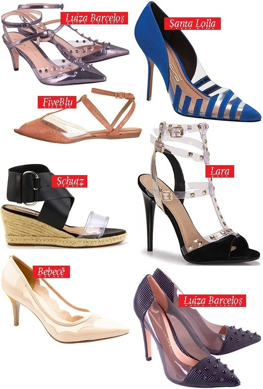 Moda verão 2014 - sapatos transparentes